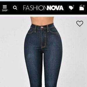 Fashion nova high waisted denim jeans/jeggings